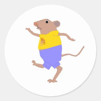 Ratón de Dancinng Pegatina Redonda