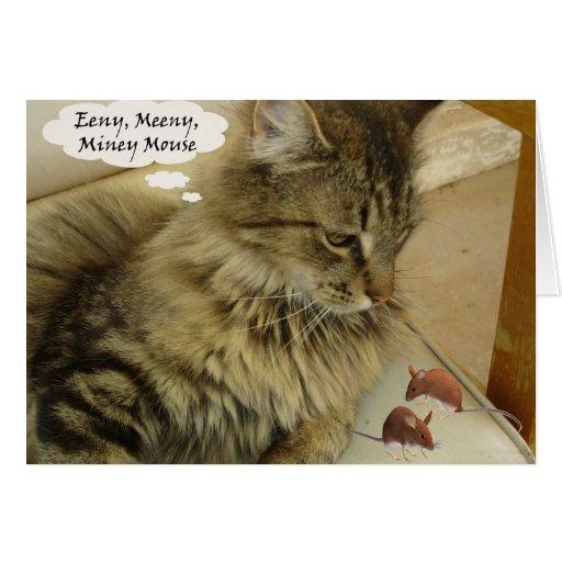 Ratón de Eeny Meeny Miney Felicitaciones