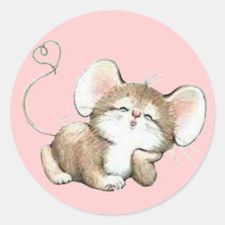 Ratón de Kissy Pegatina Redonda
