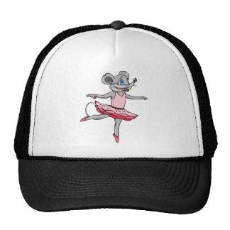 Ratón de la bailarina gorras de camionero