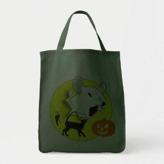 Ratón de la calabaza de Halloween y bolso de los g Bolsas
