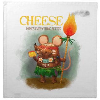 Ratón de la cueva y el queso servilleta