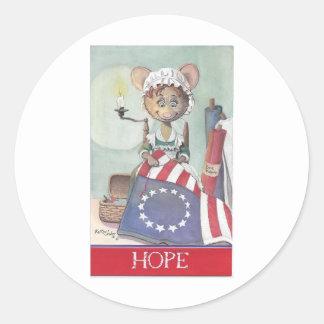 Ratón de la esperanza etiquetas