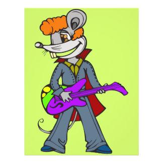 """Ratón de la estrella del rock folleto 8.5"""" x 11"""""""