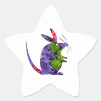 Ratón de la flor del pegatina