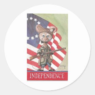 Ratón de la independencia etiqueta