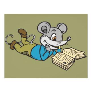 """Ratón de la lectura folleto 8.5"""" x 11"""""""