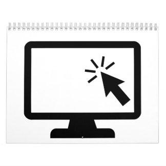 Ratón de la pantalla de ordenador calendarios de pared