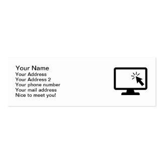 Ratón de la pantalla de ordenador tarjetas de visita mini