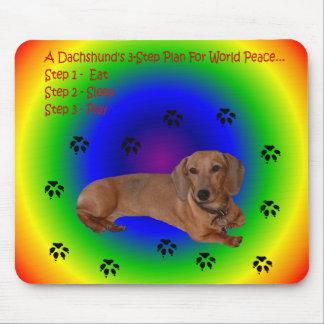 Ratón de la paz de mundo del Dachshund Alfombrilla De Ratón