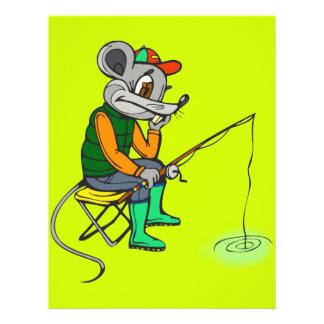 """Ratón de la pesca folleto 8.5"""" x 11"""""""