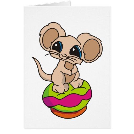 Ratón de la pipa felicitaciones