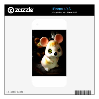 Ratón de la prisión (y mono) iPhone 4 calcomanía