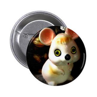 Ratón de la prisión (y mono) pin redondo de 2 pulgadas