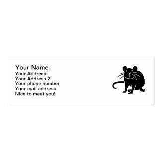 Ratón de la rata negra tarjetas de visita mini