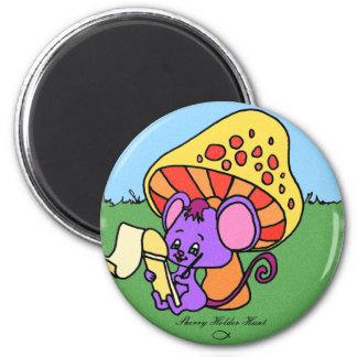 Ratón de la seta imán redondo 5 cm