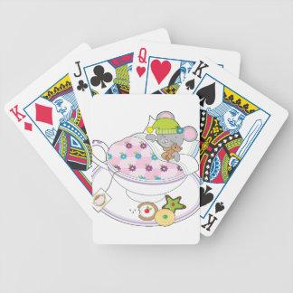 Ratón de la taza de té barajas
