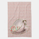 Ratón de la taza de té el dormir toallas de cocina