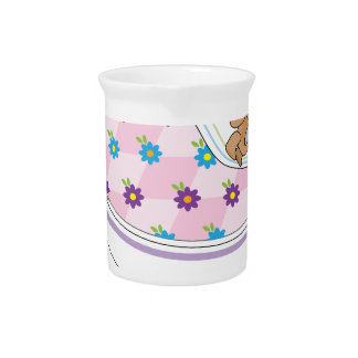 Ratón de la taza de té jarrones