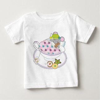 Ratón de la taza de té playera de bebé