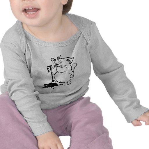 Ratón de la trampa del gato camisetas
