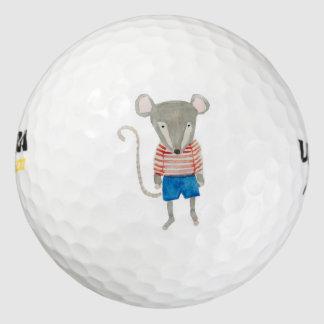 Ratón de los amigos del bosque pack de pelotas de golf
