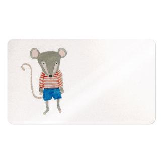 Ratón de los amigos del bosque tarjetas de visita
