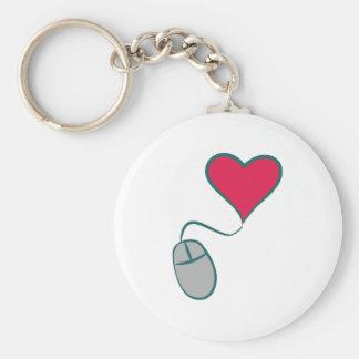 Ratón de ordenador corazón computer mouse heart llavero redondo tipo pin