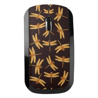 Ratón de oro de la radio de las libélulas ratón inalámbrico