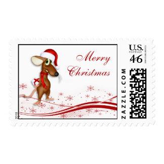 Ratón de Papá Noel del navidad