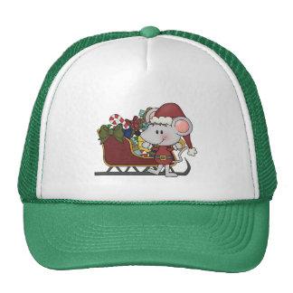 Ratón de Santa con el trineo Gorro De Camionero