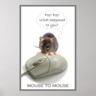 Ratón de Squeeky y ratón del ordenador Póster