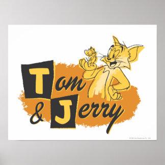 Ratón de Tom y Jerry en logotipo de la pata Posters