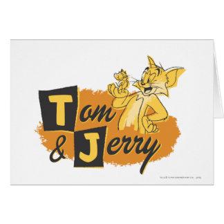 Ratón de Tom y Jerry en logotipo de la pata Tarjeta De Felicitación