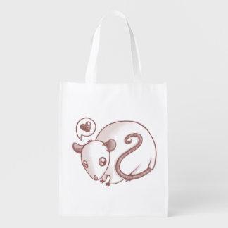 Ratón del amor bolsa reutilizable