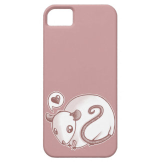 Ratón del amor funda para iPhone 5 barely there