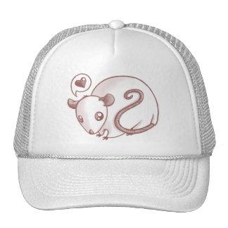 Ratón del amor gorras