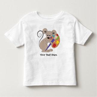 Ratón del artista (personalizado) playera de niño