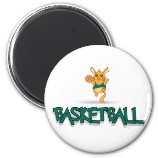 Ratón del baloncesto imán redondo 5 cm