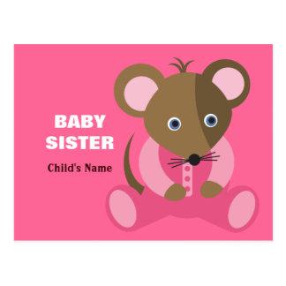 Ratón del bebé de la hermana del bebé en durmiente tarjetas postales