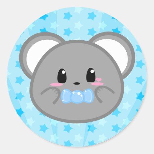 Ratón del bebé - pegatina del muchacho