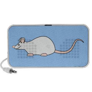 Ratón del blanco del mascota iPod altavoz