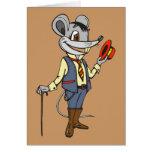 Ratón del caballero tarjeton