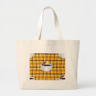 ratón del café bolsa tela grande