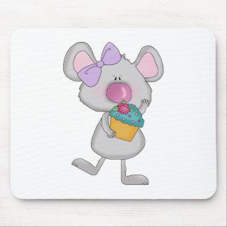 ratón del chica con la magdalena tapete de raton