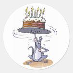 Ratón del cumpleaños etiqueta