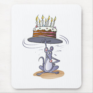 Ratón del cumpleaños mousepad