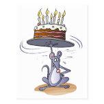 Ratón del cumpleaños postal