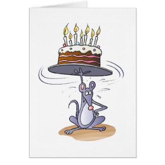 Ratón del cumpleaños tarjeta de felicitación