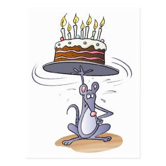 Ratón del cumpleaños tarjeta postal